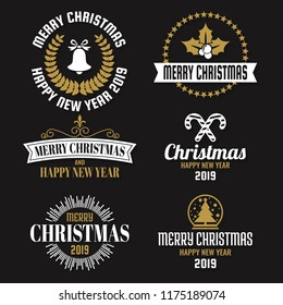 Christmas Vector Logo for banner, poster, flyer
