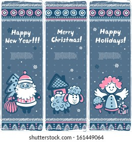 Christmas vector set of banners can be used as a greeting cards