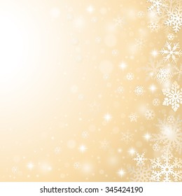 Christmas winter background with falling snowflakes