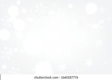 Weihnachtswinterhintergrund mit Schneeflocken.Feiertagskarte mit Schneeflocken-Hintergrund.für Text, Verkauf und mehr.