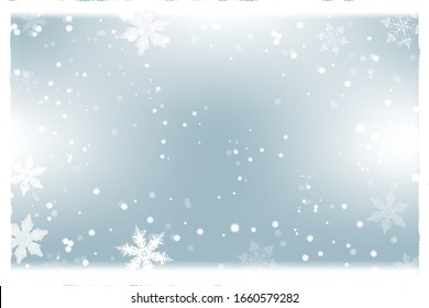 Christmas winter background with snowflakes.Holiday greeting card with snowflake background.for text,sale and more.