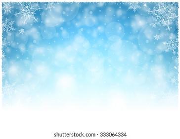 Christmas Winter Frame - Illustration Vector illustration of Christmas Winter Background