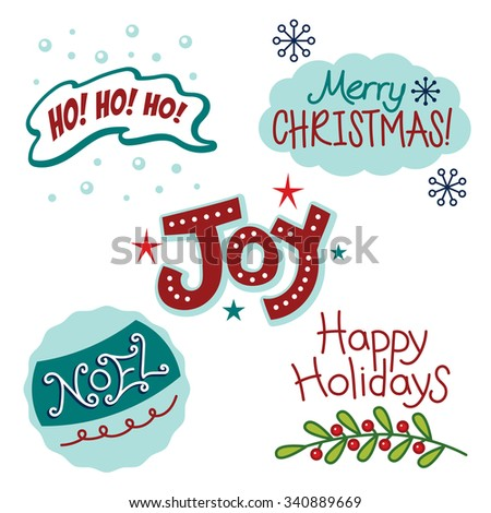 Christmas winter holiday greetings fun text stock vector royalty christmas and winter holiday greetings fun text words m4hsunfo