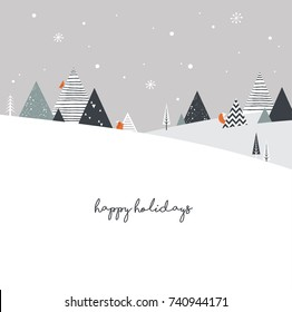 Christmas winter landscape background. Abstract Vector illustration. merry christmas banner