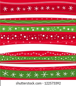 Christmas winter red and green striped background. Xmas texture or wallpaper