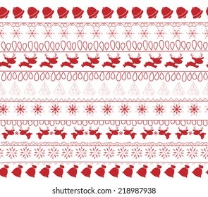 christmas and winter seamless pattern background