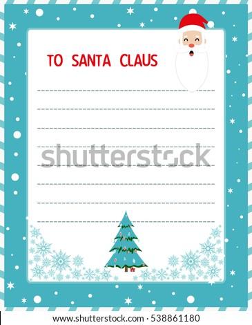 christmas wish list santa letter santa stock vector royalty free