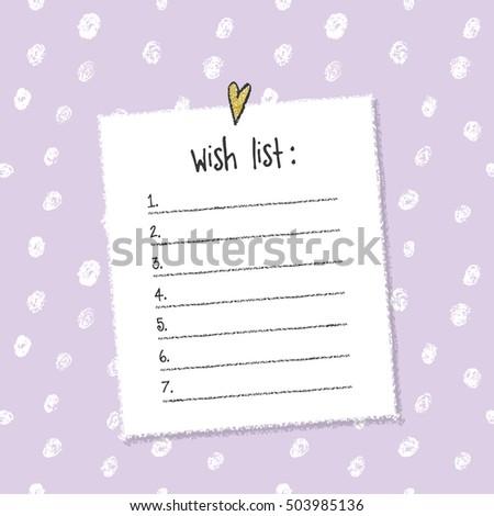 christmas wish list template hand drawn stock vector royalty free
