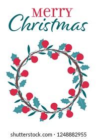 a christmas wreath with bulbs