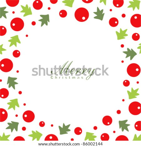 christmas wreath card template stock vector royalty free 86002144