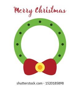 Christmas Wreath illustration vector design