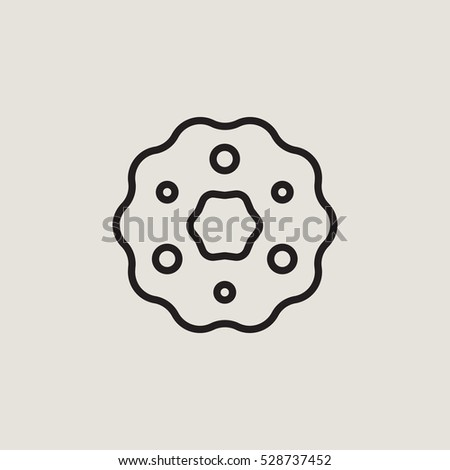 Christmas Wreath Outline Vector Icon Stock Vector Royalty Free