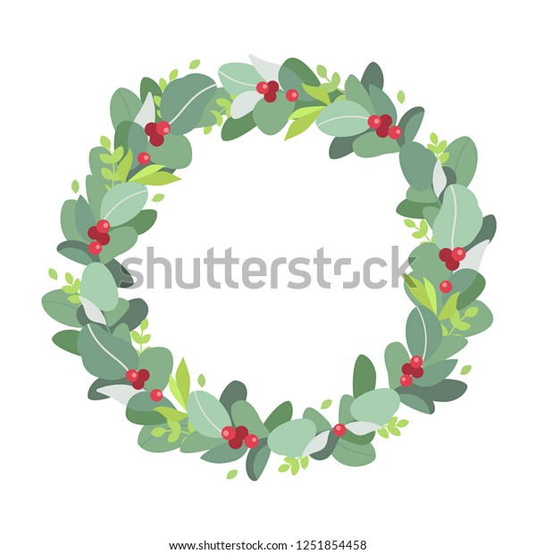 Christmas Wreath Plant Crown Leaves Red Stock Vector Royalty Free 1251854458 Search, discover and share your favorite christmas crown gifs. https www shutterstock com image vector christmas wreath plant crown leaves red 1251854458