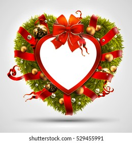 Christmas Heart Png.Christmas Heart Wreath Images Stock Photos Vectors