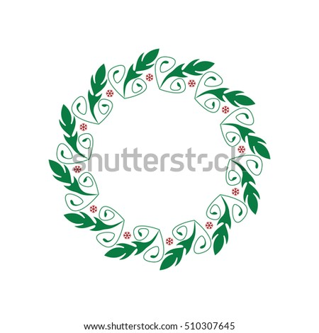 christmas wreath template stock vector royalty free 510307645