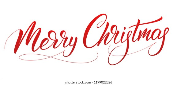 Christmas. Xmas holiday lettering design. Merry Christmas script calligraphy