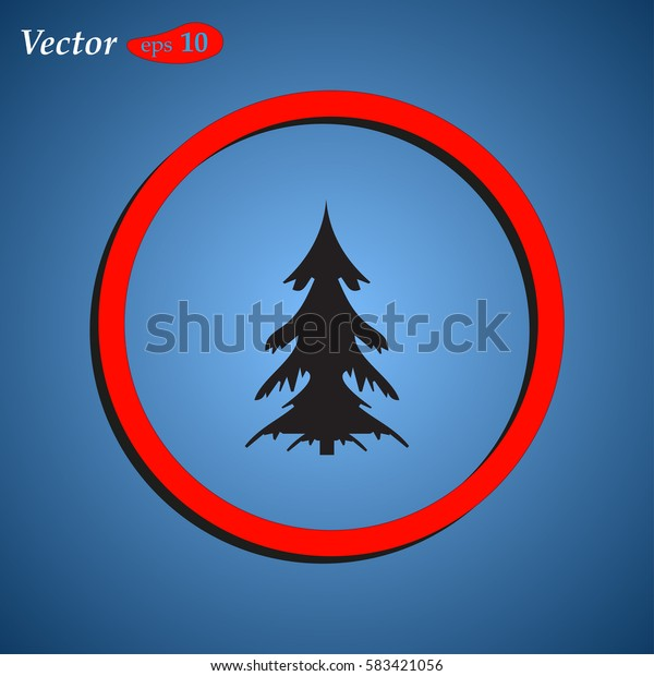christmass tree icon vector. web design style