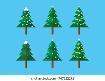 Christmast Tree Template Vector Design