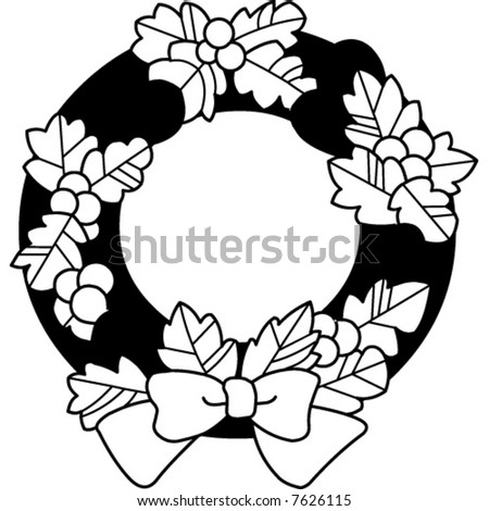 Christmas Wreath Stock Vector Royalty Free 7626115