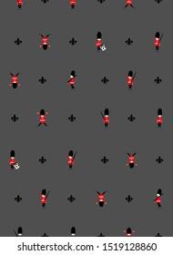 chritmas collection. seamless nutcracker pattern.grey background.vector design.