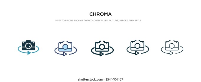 chroma icon in different style vector illustration. two colored and black chroma vector icons designed in filled, outline, line and stroke style can be used for web, mobile, ui