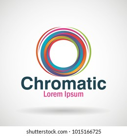 chromatic emblem business icon
