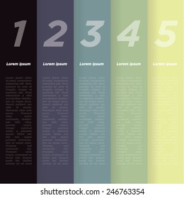 Chromatic harmony. Color palette. Colored vertical stripes background for infographics. Vector.