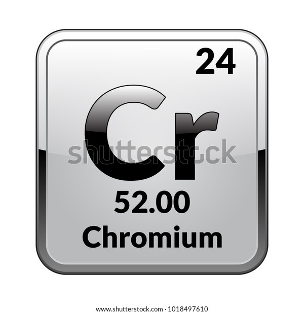 Image Vectorielle De Stock De Symbole De Chrome Element Chimique Du Tableau 1018497610
