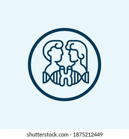 Chromosome icon. Simple line element from biotechnology icons collection. Outline Chromosome icon for templates, software and infographics