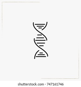 chromosome line icon