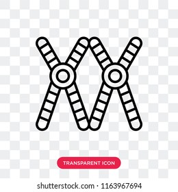 Chromosome vector icon isolated on transparent background, Chromosome logo concept