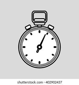 chronometer icon design , vector illustration