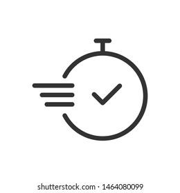 Chronometer icon isolated on white background. Vector illustration. Eps 10.