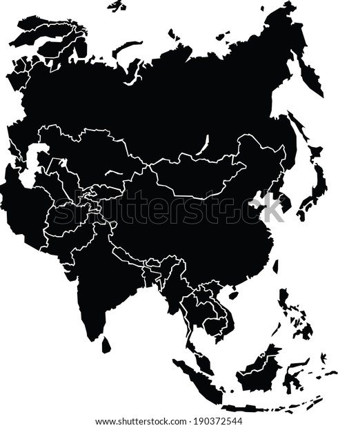 Chunky Map Continent Asia Source Libutexas Stock Vector ...