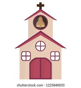 Church building cartoon