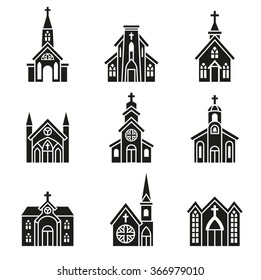 Church building, Christian Church. Christian chapel, Cathedral, Parish Icon.