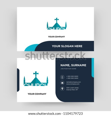 Church business card design template visiting stock vector royalty church business card design template visiting for your company modern creative and clean accmission Choice Image