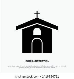Church, Celebration, Christian, Cross, Easter solid Glyph Icon vector
