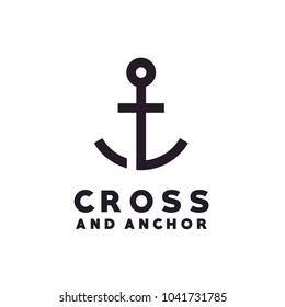 Church / Christian with Anchor logo design inspiration