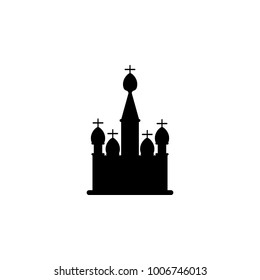 church with domes icon. Elements of Russian culture icon. Premium quality graphic design icon. Simple icon for websites, web design, mobile app, info graphics on white background