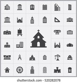 church icon. architecture icons universal set for web and mobile