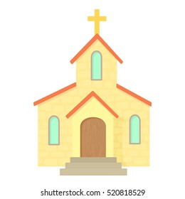 Church icon. Cartoon illustration of church vector icon for web