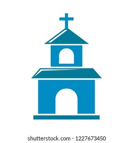 Church icon. christian Church illustration. religion of church vector icon for web