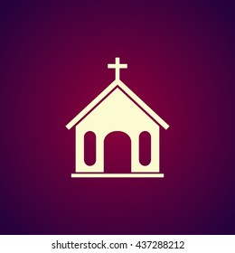 church icon. Flat design style eps 10