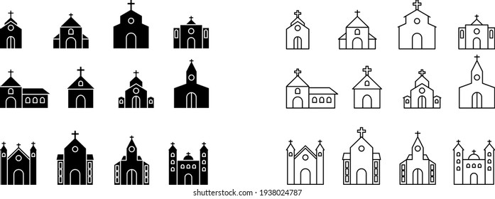 Church icon , vector illustration