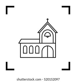 Church isolated minimal single flat icon. Religion vector icon for websites and mobile minimalistic flat design.