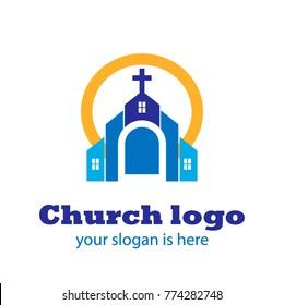 Church Logo. Church Building.