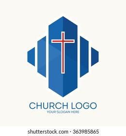 Church logo. Christian symbols.