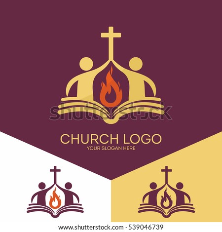 Church Logo Christian Symbols Church Based Stockvector Rechtenvrij