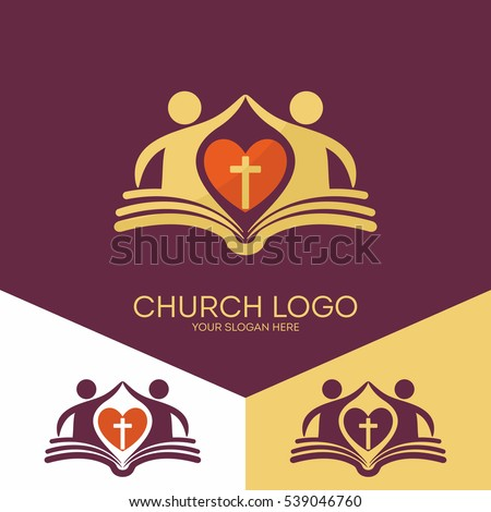 Church Logo Christian Symbols Church Based Stock Vector Royalty